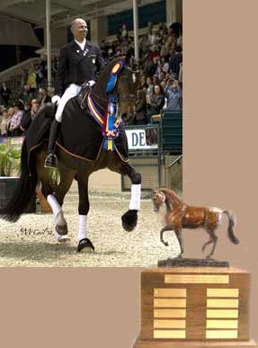 Steffen Peters and Piaffe Stallion Trophy